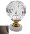 Baldwin<br />4305.112 IN STOCK  - Crystal Knob Venetian Bronze