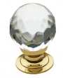 Baldwin<br />4317.030 IN STOCK  - Crystal Knob Polished Brass