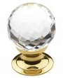 Baldwin<br />4318.030 IN STOCK  - Crystal Knob Polished Brass