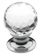 Baldwin<br />4318.260 IN STOCK  - Crystal Knob Polished Chrome