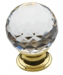 Baldwin<br />4319.030 IN STOCK  - Crystal Knob Polished Brass