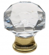Baldwin<br />4324.030 IN STOCK  - Crystal Cabinet Knob Polished Brass