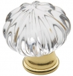 Baldwin<br />4327.030 IN STOCK  - Crystal Knob Polished Brass