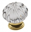 Baldwin<br />4328.030 IN STOCK  - Crystal Knob Polished Brass