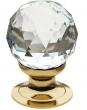 Baldwin<br />4334.030.S IN STOCK  - Swarovski Crystal Cabinet Knob Polished Brass