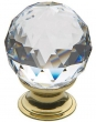 Baldwin<br />4336.030.S IN STOCK  - Swarovski Crystal Cabinet Knob Polished Brass