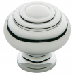 Baldwin<br />4445.260.BIN IN STOCK  - Ring Deco Knob Polished Chrome