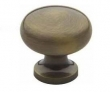 Baldwin<br />4704.050  Cabinet Knobs IN STOCK  -  Classic Design 1-Inch Diameter Cabinet Knob, Satin Brass and Black