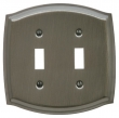 Baldwin<br />4766.CD Switchplate - COLONIAL DOUBLE TOGGLE