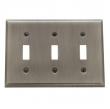 Baldwin<br />4770.CD Switchplate - BEVELED TRIPLE TOGGLE