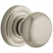 Baldwin<br />5015.150 CLASSIC KNOB WITH 5048 ROSE - Satin Nicke - Complete Pre-Configured Set With Knobs, Roses, Latch &amp; 2 1/8 Adapter