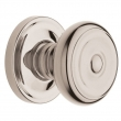 Baldwin<br />5020.055 - Colonial Knob Set with 5048 Rose - Lifetime Polished Nickel