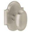Baldwin<br />5024.056 - OVAL KNOB WITH R030 ARCHED ROSE - Lifetime Satin Nickel