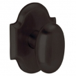 Baldwin<br />5024.102 - OVAL KNOB WITH R030 ARCHED ROSE - Oil Rubbed Bronze
