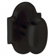Baldwin<br />5024.190 - OVAL KNOB WITH R030 ARCHED ROSE - Satin Black