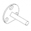 Baldwin<br />5077.004.A - TRANSITIONAL HALF DUMMY SPINDLE FOR ESCUTCHEONS - 1 1/2&quot;
