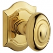 Baldwin<br />5077.031 - BETHPAGE KNOB WITH R027 BETHPAGE ROSE - NON-LACQUERED BRASS
