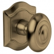Baldwin<br />5077.050 - BETHPAGE KNOB WITH R027 BETHPAGE ROSE - SATIN BRASS &amp; BLACK