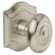 Baldwin<br />5077.056 - BETHPAGE KNOB WITH R027 BETHPAGE ROSE - LIFETIME SATIN NICKEL