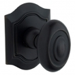 Baldwin<br />5077.190 - BETHPAGE KNOB WITH R027 BETHPAGE ROSE - SATIN BLACK