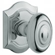 Baldwin<br />5077.260 - BETHPAGE KNOB WITH R027 BETHPAGE ROSE - POLISHED CHROME