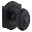 Baldwin<br />5077.402 - BETHPAGE KNOB WITH R027 BETHPAGE ROSE - DISTRESSED OIL RUBBED BRONZE