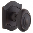 Baldwin<br />5077.412 - BETHPAGE KNOB WITH R027 BETHPAGE ROSE - DISTRESSED VENETIAN BRONZE