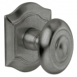 Baldwin<br />5077.452 - BETHPAGE KNOB WITH R027 BETHPAGE ROSE - DISTRESSED ANTIQUE NICKEL