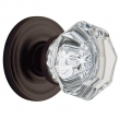 Baldwin<br />5080.102 FILMORE CRYSTAL KNOB W/ 5048 CLASSIC ROSE - Complete Pre-Configured Set With Knobs, Roses, Latch &amp; 2 1/8 Adapter