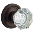 Baldwin<br />5080.102 w/ 5004 Rose - FILMORE CRYSTAL KNOB WITH 5004 ROPE ROSE - Oil Rubbed Bronze