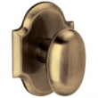 Baldwin<br />5432.050 - OVAL KNOB WITH R030 ARCHED ROSE - Satin Brass and Black