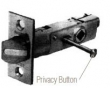 Baldwin<br />5520.P - KNOB-STRENGTH PRIVACY LATCH - 2 3/4&quot; BACKSET - 1&quot; FACEPLATE