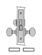 Baldwin<br />6055 - PRIVACY INTERIOR MORTISE LOCK - 2 3/4&quot; BACKSET