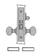 Baldwin<br />6065 - EMERGENCY/UTILITY ROOM INTERIOR MORTISE LOCK - 2 3/4&quot; BACKSET