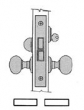 Baldwin<br />6070 - DORMITORY/EXIT INTERIOR MORTISE LOCK - 2 3/4&quot; BACKSET