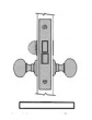 Baldwin<br />6315 - BATH/BEDROOM INTERIOR MORTISE LOCK BOX ONLY - 2 1/2&quot; BACKSET