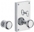 Baldwin<br />6505.KT - GEORGETOWN PRIVACY SET WITH THUMBTURN KNOB - 4&quot; X 6 3/4&quot;