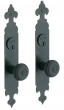 Baldwin<br />6774.KC/6774.KC - PLYMOUTH DOUBLE CYLINDER MORTISE ENTRY SET - 2&quot; X 12&quot;