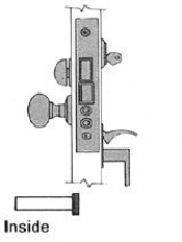 Baldwin 6832 Baldwin Residential Entrance Mortise Lock 2
