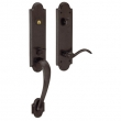Baldwin<br />85354.412 QUICKSHIP - BOULDER 3/4 EMERGENCY EGRESS HANDLESET - DISTRESSED VENETIAN BRONZE