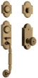 Baldwin<br />85365.050 - ASHTON TWO-POINT HANDLESET - SATIN BRASS AND BLACK