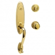 Baldwin<br />85380.003 - BUCKINGHAM HANDLESET TRIM - LIFETIME POLISHED BRASS