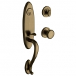 Baldwin<br />85380.050 - BUCKINGHAM HANDLESET TRIM - SATIN BRASS AND BLACK