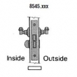 Baldwin<br />8545 - SMALL CASE LEVER X LEVER INTERIOR MORTISE LOCK - PRIVACY - 2 1/2&quot; BACKSET