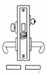 Baldwin<br />G6010 - DORMITORY ENTRANCE OR STOREROOM MORTISE LOCK - ANSI F21 - 2 3/4&quot; BACKSET