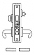 Baldwin<br />G6077 - ENTRANCE OR APARTMENT MORTISE LOCK - ANSI F20 - 2 3/4&quot; BACKSET