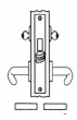 Baldwin<br />G6090 - STORE DOOR MORTISE LOCK - ANSI F14 - 2 3/4&quot; BACKSET