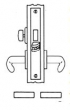 Baldwin<br />G6355 - PRIVACY, BEDROOM, OR BATHROOM MORTISE LOCK - ANSI F19 - 2 1/2&quot; BACKSET