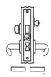 Baldwin<br />G6375 - ENTRANCE OR APARTMENT MORTISE LOCK - ANSI F12 - 2 1/2&quot; BACKSET