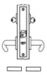 Baldwin<br />G6385 - ENTRANCE OR PUBLIC RESTROOM MORTISE LOCK - ANSI F09 - 2 1/2&quot; BACKSET